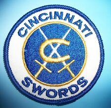 Cincinnati Swords Ohio Ice Hockey Team Logo Patch Vintage New AHL 1971-74'