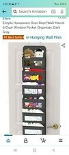 New listing Over Door Large Pockets Hanging Storage Clear Window Organizer For Toys Diapers