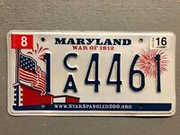 MARYLAND LICENSE PLATE WAR OF 1812 AMERICAN FLAG 🇺🇸 RANDOM LETTERS/NUMBERS