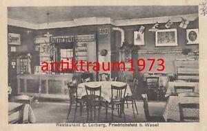 AK Restaurant C. Lohberg Innenansicht , Friedrichsfeld b. Wesel Nr. 114