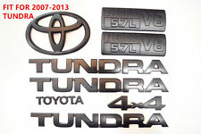 FOR 2007-2013 Toyota Tundra Matte Black Out Emblem Badges tailgate 8 Piece Kit