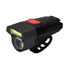Cycling USB Rechargeable Bike Light Double Lamp Head Light Bicycle LED+COB