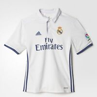 Official Adidas 2016/2017 Real Madrid Kids Junior Boys Home Football Kit Shirt