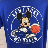 Kentucky Wildcats Mickey Mouse T-Shirt Blue Graphic Tee Size Medium