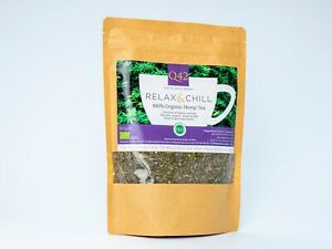 Q42 Organic Hemp Tea 100g RELAX & CHILL Aid to Relaxation and Sleep