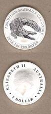 2014 Australia Saltwater Crocodile One Ounce UNC Silver Coin