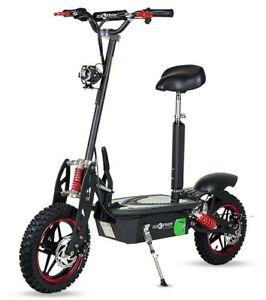 Patinete electrico Off-Road Ecoxtrem 2000w sillin Aspide ruedas tacos Negro Rojo