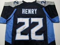 DERRICK HENRY / AUTOGRAPHED TENNESSEE TITANS CUSTOM FOOTBALL JERSEY / COA