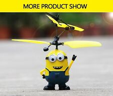 Flying Minion RC Sensor Control Helicopter Toy BOY Aircraft Drone for kids