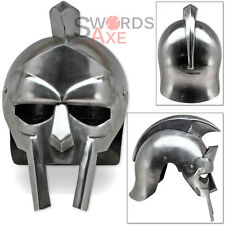 Arena Gladiator Helmet Roman Colosseum Warrior 18G Carbon Steel Armor Handmade