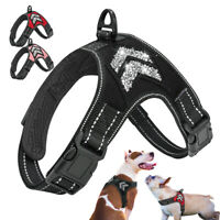 No Pull Dog Harness Adjustable Bling Reflective Pet Vest French Bulldog Boxer