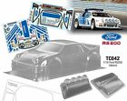 1/10 RC On Road Flat Drift Car Clear Body Ford RS200 For HPI Kyosho Redcat HSP