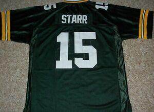 BART STARR Unsigned Custom Sewn New Football Green Bay Jersey S, M,L,XL,2XL,3XL