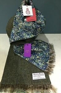 PAUL SMITH Japanese TUNA fish Japan floral scarve silk wool scarf