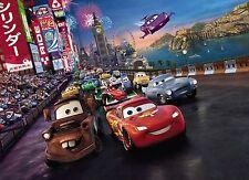 Cars Race Foto Wallpaper Mural De Pared Para Niños Disney Pixar Cars2 254x184cm