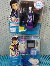 No Barbie LIV lote conjuntos Chupa de cuero, top y complementos musicales