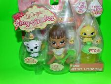 NEW BRATZ LIL ANGELZ TINY TINKLEZ YASMIN BABY W/ PETS LITTER BOX FEED US WET