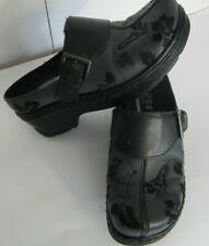 "Klogs Footwear ""Austin"" Womens Size 6M Blue Floral Print Leather Clogs/Mules"