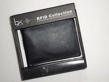 Mens Buxton RFID Fast and Furious Genuine Leather Wallet,Black