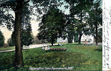 COLLEGE HILL PARK, POUGHKEEPSIE, N.Y. NEW YORK. 3 GIRLS SITTING BY FLOWER BED.