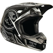 Fox V2 Priori Motocross Mx Casco - Negro Enduro Moto Mtb Bmx