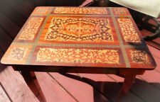 Vg Italy Inlaid Marquetry Sectioned Jewelry Table Reuge Music Box Edelweiss Cr