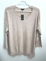 Verve Ami Womens Plus Sz 3X Pink Blush Black Sweater Long Sleeve Asymmetrical
