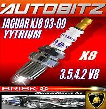 For JAGUAR XJ8 3.5 4.2 V8 2008> BRISK SPARK PLUGS X8 YYTRIUM SAME DAY DESPATCH