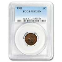 1901 Indian Head Cent MS-63 PCGS (Brown) - SKU#179488