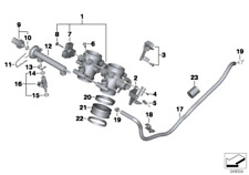 Accelerator Cable, 32737716115, Bmw, F650GS