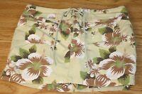 Juniors Size 1 Light Green Mini Skorts Floral Design Summer Skort Skirt