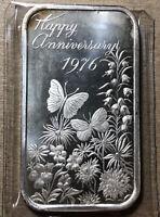 1976 Happy Anniversary Madison Mint 1 Ounce .999 Silver Art Bar