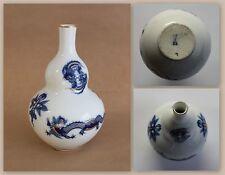 Meissner Porzellan Vase Blauer Drache doppelbauchig Erste Wahl um 1880 xz