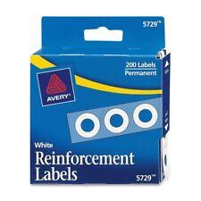 "Avery Reinforcement Label - 0.25"" Diameter - 200 / Pack - White (AVE05729)"