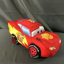 Pixar Cars 2 Lightning McQueen Authentic Disney Store 13 Inch Plush Pillow