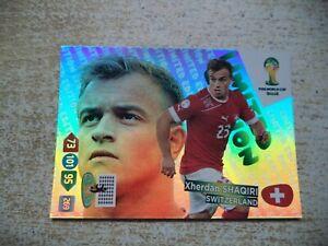 Panini Adrenalyn XL World Cup Xherdan Shaqiri Limited Edition Brasil 2014