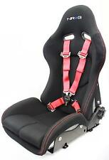 GENUINE NRG 4 Point Racing Harness Cam Lock in Red / Blue RACE SPECS Seat Belt