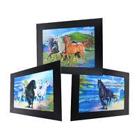 3 Dimension 3D Lenticular Picture Wild Horse Pack Thunder Beach Shore Sea