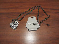 TEXTURED HEART NECKLACE WITH LOTS OF SMALL HEARTS FROM HOT TOPIC