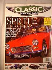 Classic and Sports car magazine - March 1998 - Sprite - 450SLC - Cobra