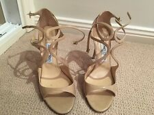 WORN ONCE SZ 41 JIMMY CHOO LANG NUDE PATENT LEATHER HEELS