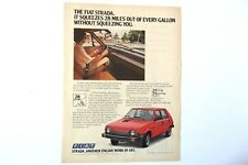 1979 Fiat Strada Print Ad 'Another Italian Work of Art' Automobile Car
