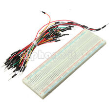 830 Tie Points Solderless PCB Breadboard MB102+65Pcs Jumper cable wires Arduino