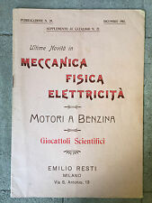 CATALOGUE ANCIEN ITALIEN MECCANICA FISICA ELETTRICITA INSTRUMENTS SCIENTIFIQUES