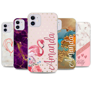 For iPhone 11 SE 2020 6s 7 8 Plus XS XR Case Personalised initials Cover x11037