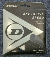 Dunlop Explosive Speed 17 Gauge 1.25mm Tennis String Black NEW