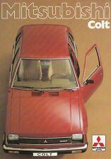MITSUBISHI COLT Japan Klassiker Youngtimer Prospekt Brochure 48