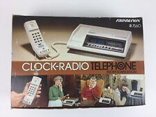 Vintage 1970's - 80's Soundesign Telephone AM/FM Radio Alarm Clock Model 7560