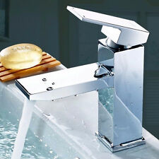 Chrome Modern Cloakroom Bathroom Bath Mono Deck Basin Sink Mixer Tap Solid Brass