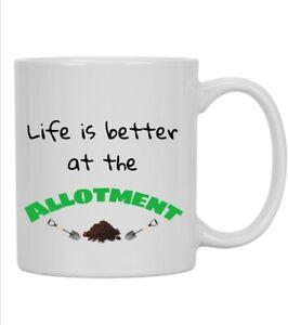 ALLOTMENT Mug GIFT FOR MUM, DAD, GRANDAD Ideal unique gift for allotment holder